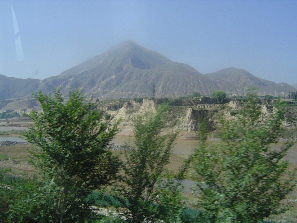 Auf dem Weg nach Xiahe - aus dem Bus fotografiert