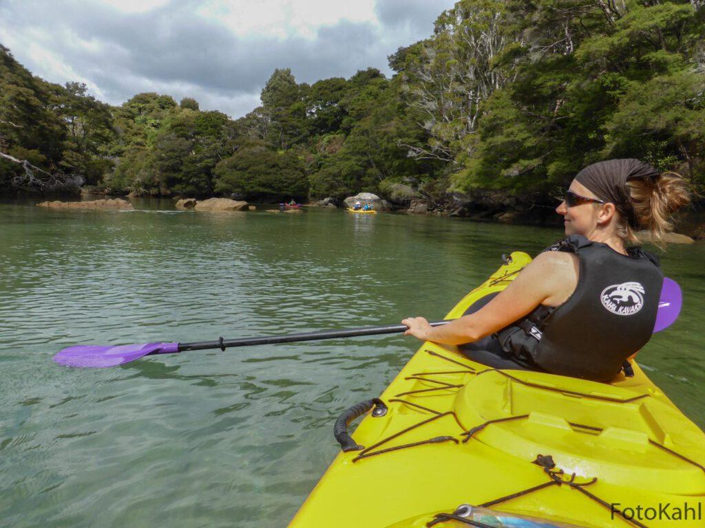 Zweifelsohne einer der besten Ausflüge - Paddeln im Abel Tasman Nationalpark