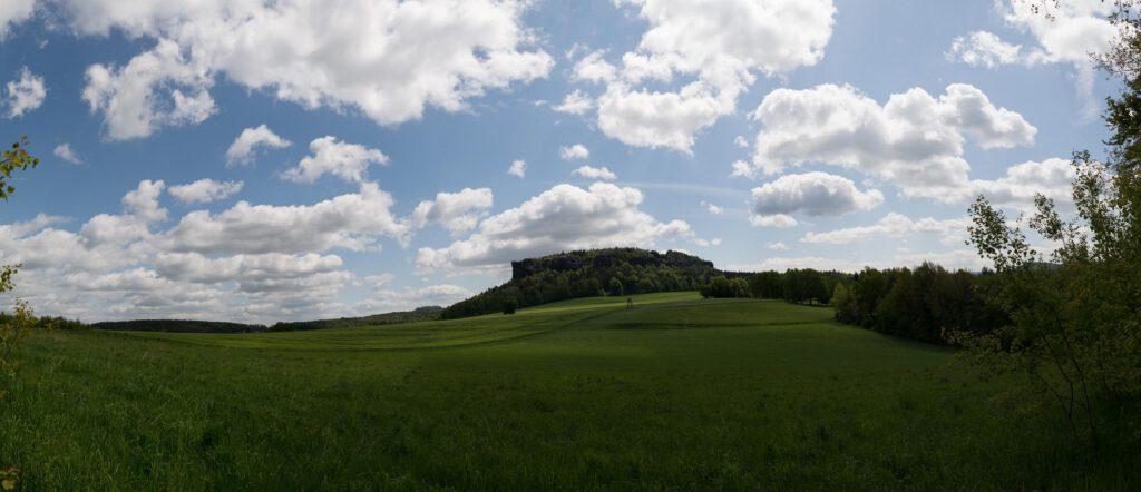 Der Pfaffenstein Blick aus Süden