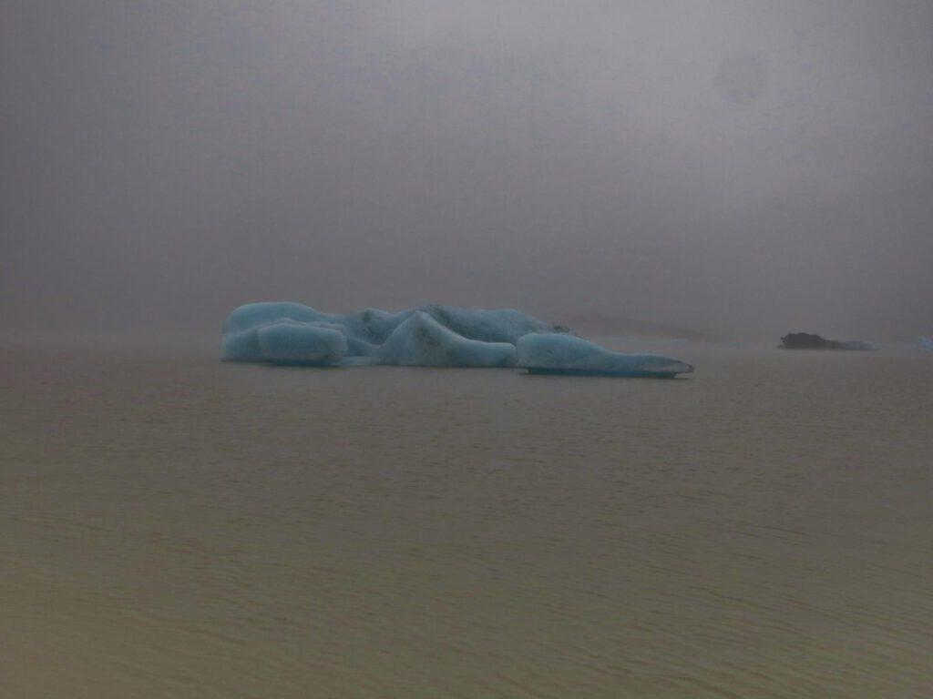 Gletscherlagune an Gletscherlagune im Süden von Island