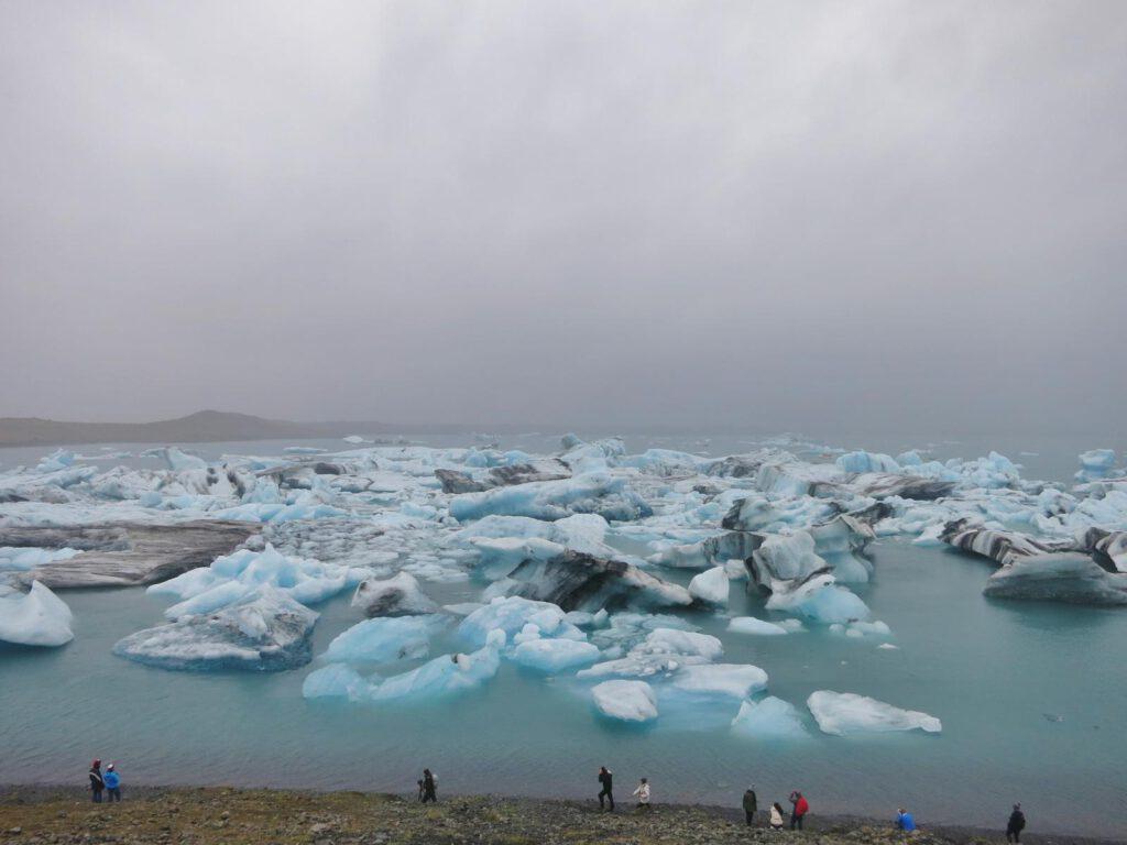 Der Gletschersee Jökularlon von oben
