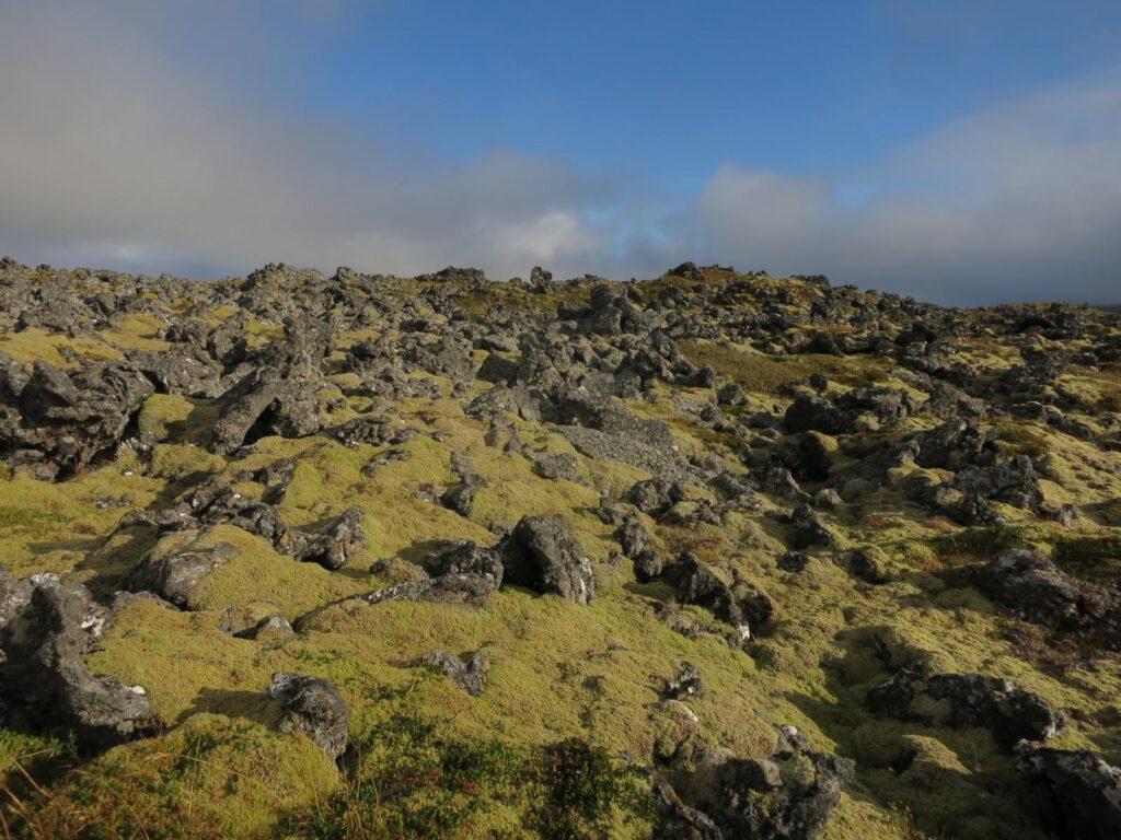 Unwegsamer Weg zum Krater Saxhöll
