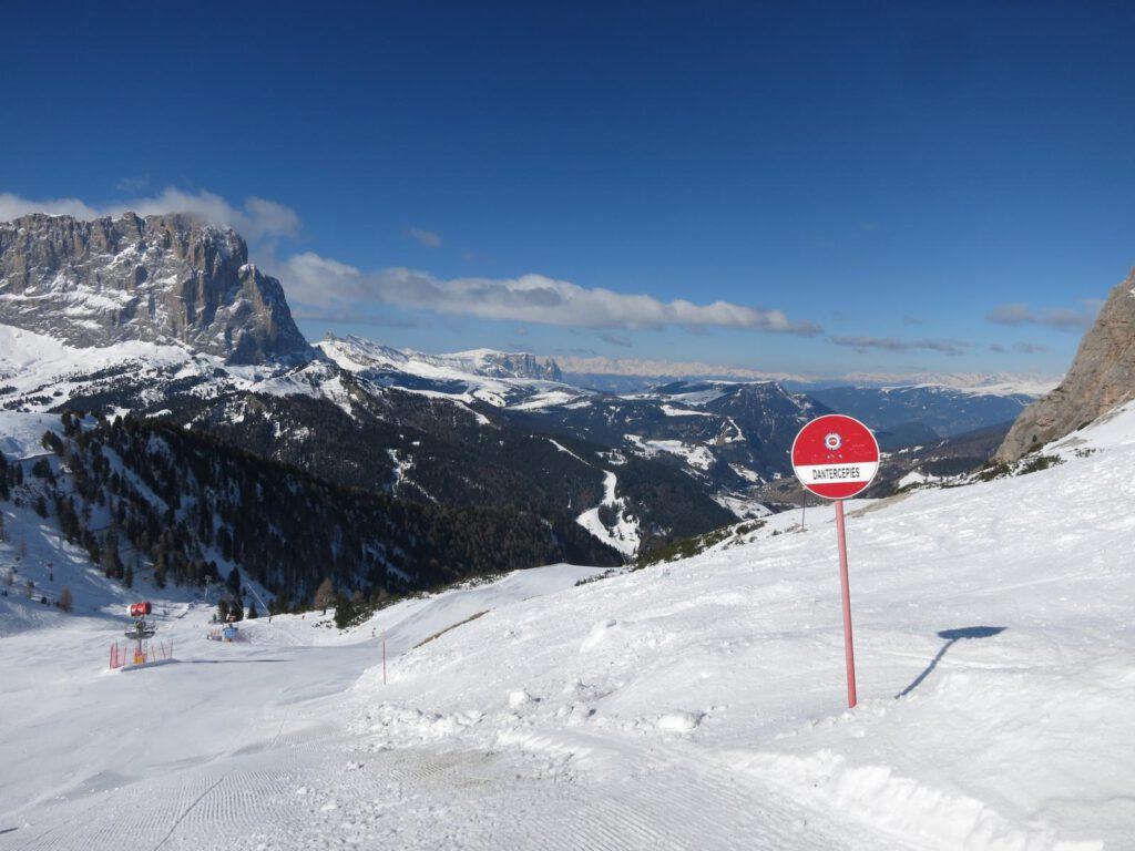 Abfahrt Richtung Wolkenstein - Dantercepies / eine meiner Lieblingspisten