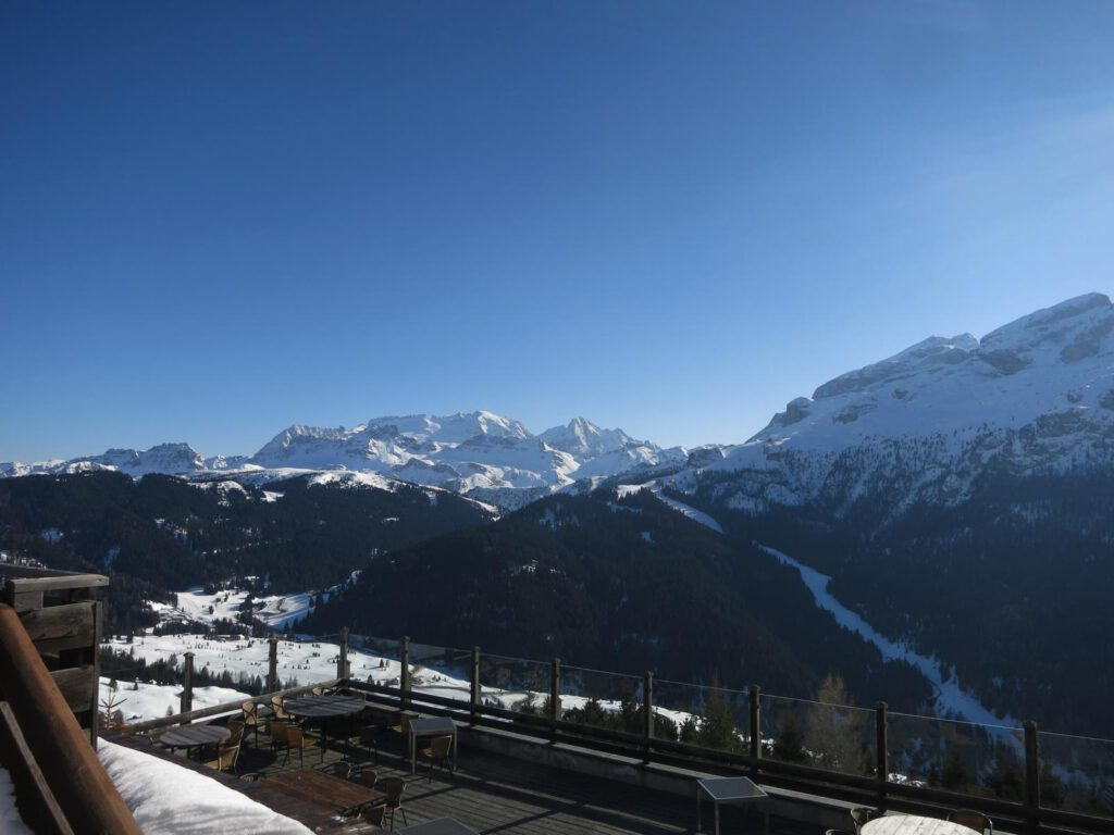 Blick vom Refugio Col Alt