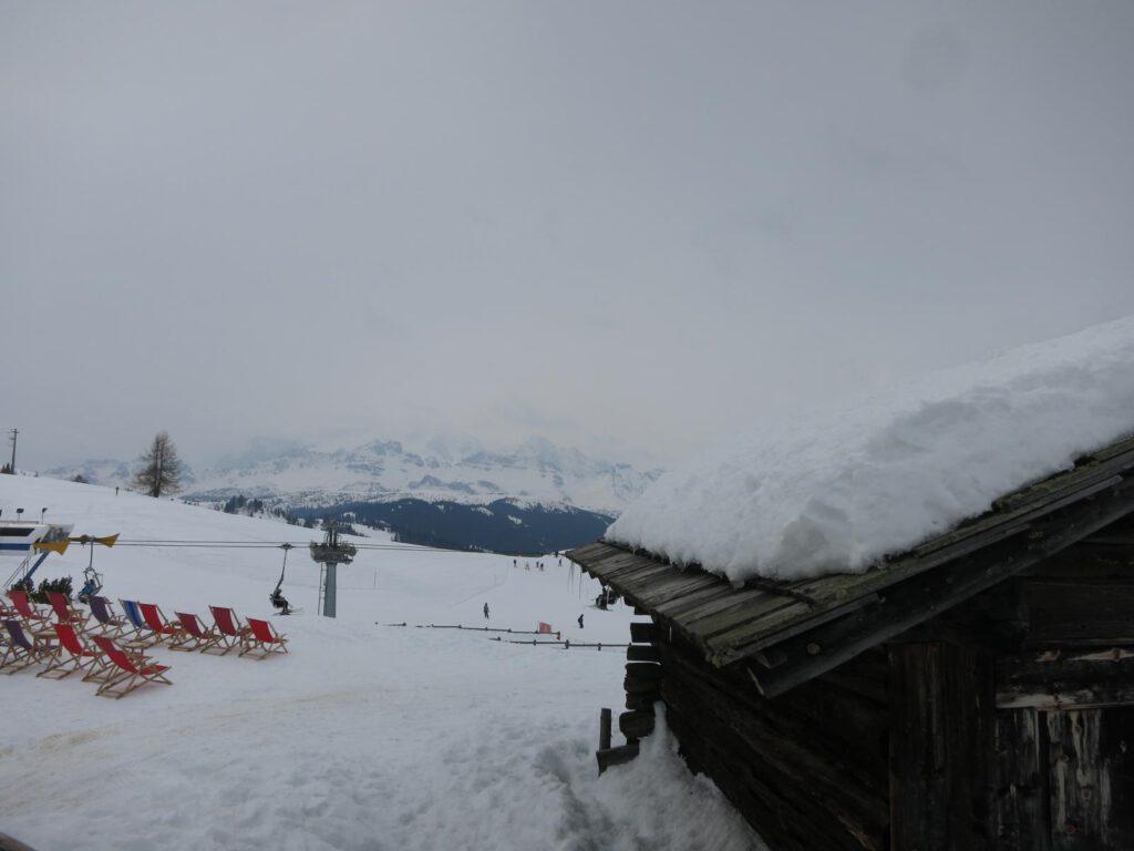 wolkenreiche Aussicht Hütte La Brancia