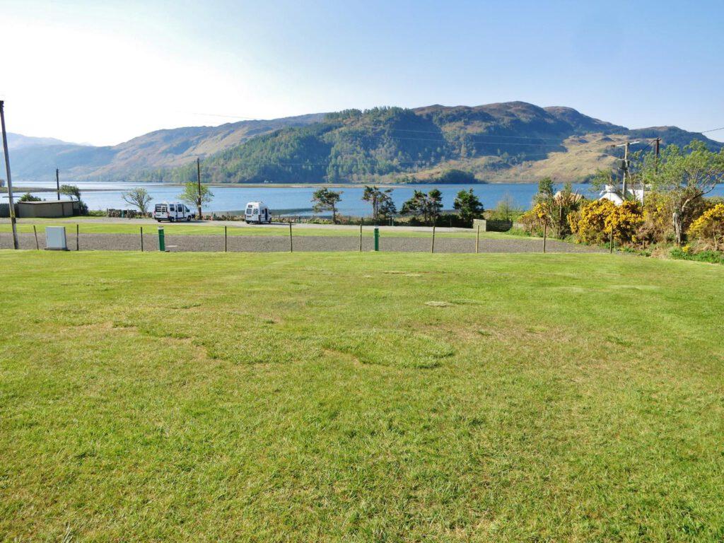 Campingplatz Dornie mit Blick zum Castle