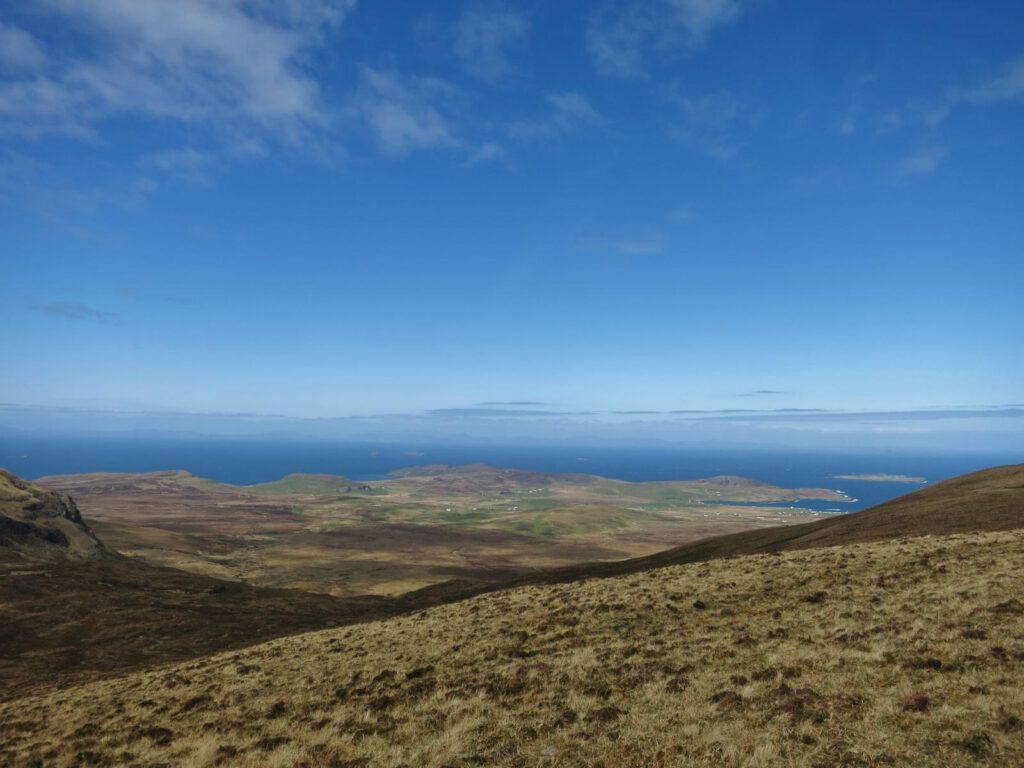 Quiraing Blick Richtung Äußere Hebriden
