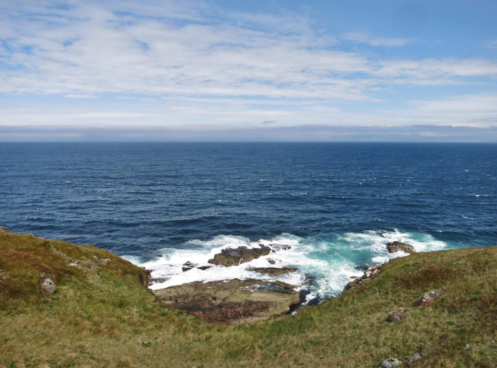 Blick Richtung Westen zu den Äußeren Hebriden