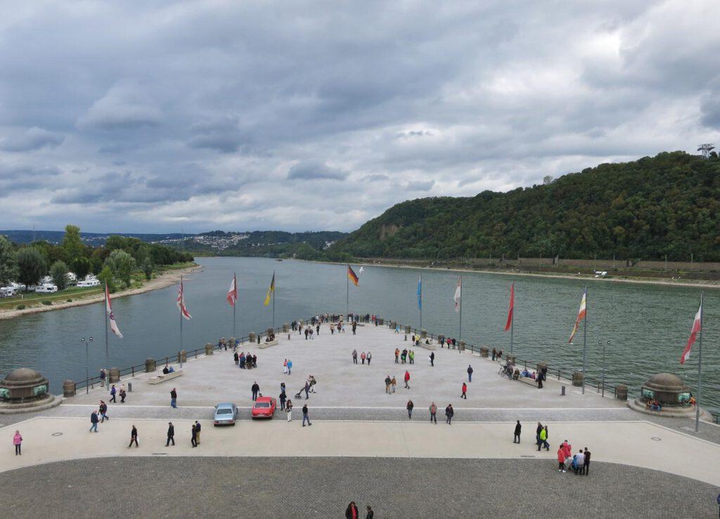 Blick zum Moselzufluss in den Rhein / Deutsches Eck
